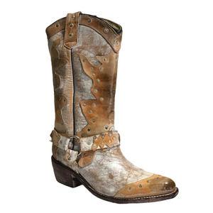 BedStu Rubic Studded Western Cowboy Cowgirl Boots